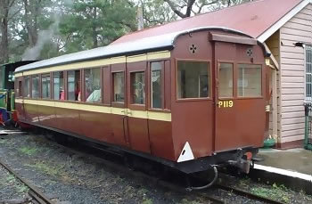 Passenger Car P119 out of service.