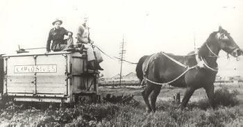 Horse-Drawn Explosives Wagons